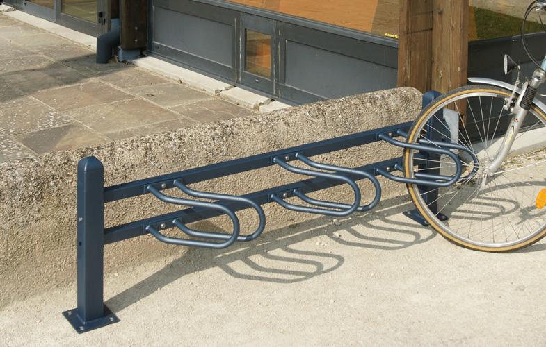 Cycle Rack Front Wheel Locking