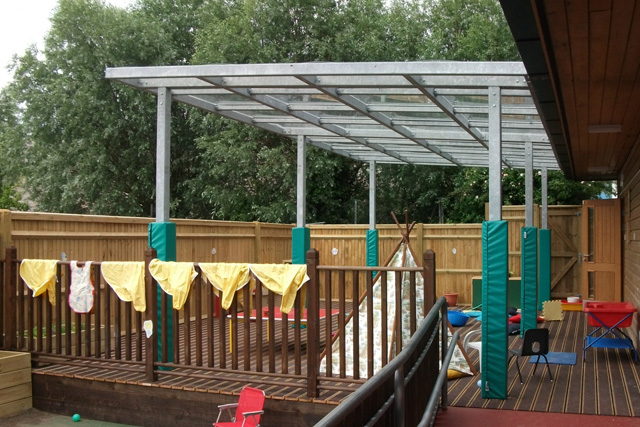 Outdoor Play Areas and Classrooms